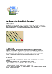 VeriDose Solid-State Diode Detectors*