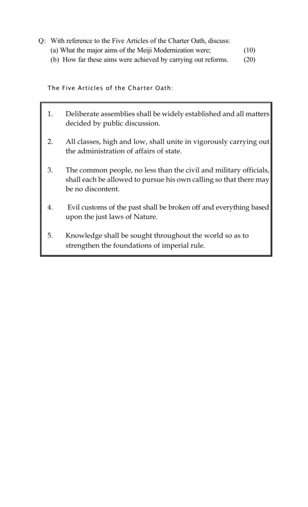 charter oath and meiji reform rh studylib net