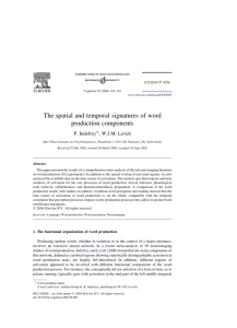 The spatial and temporal signatures of word production components