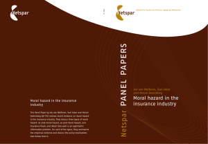 Moral Hazard In The Insurance Industry
