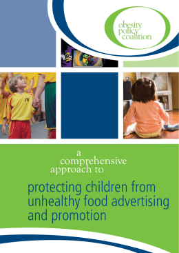 protecting children from unhealthy food advertising and promotion