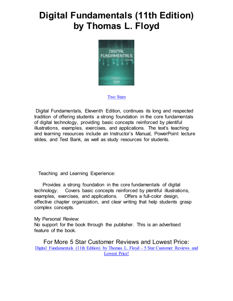 Digital Fundamentals 11th Edition by Thomas L Floyd