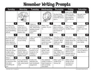 November Writing Prompts - Lakeshore Learning Materials