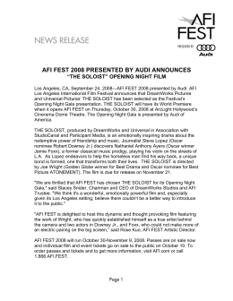 NEWS RELEASE - American Film Institute