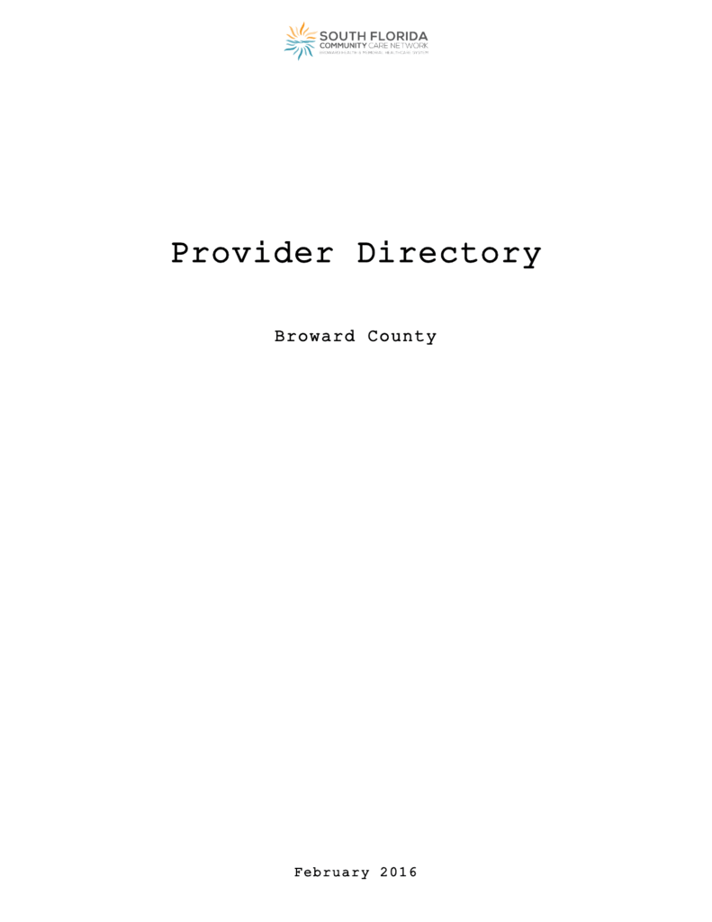 the complete provider directory