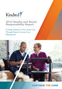 2013 Quality and Social Responsibility Report