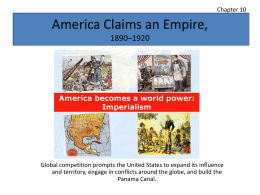 America Claims an Empire,