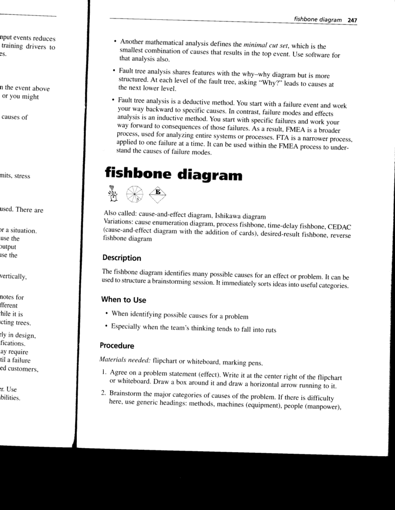 Fishhone Diagram How To Draw A Fishbone
