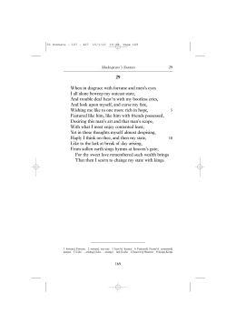 Sonnets - Getting to Know Shakespeare