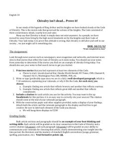code of chivalry