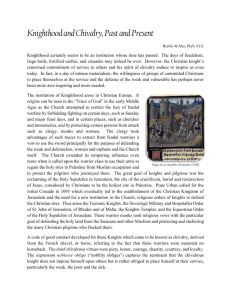 Knights in Feudal Society
