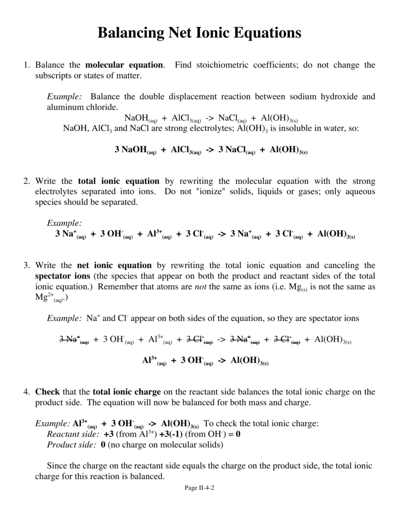 worksheet. Writing Net Ionic Equations Worksheet. Grass Fedjp ...