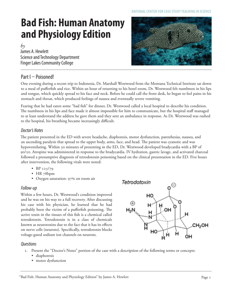 Bad Fish - National Center for Case Study Teaching in Science