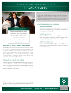 human services - Ivy Tech Community College
