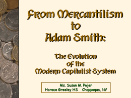 From Mercantilism to Adam Smith