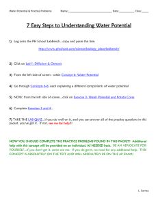7 Easy Steps to Understanding Water Potential