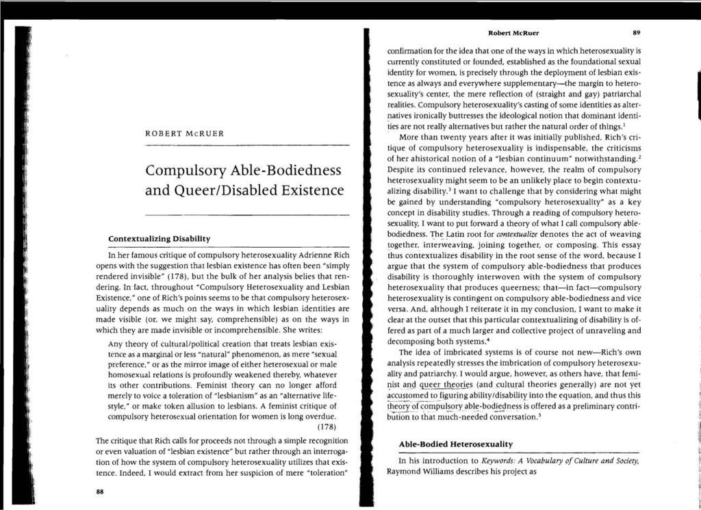 Compulsory heterosexuality and lesbian existence analysis