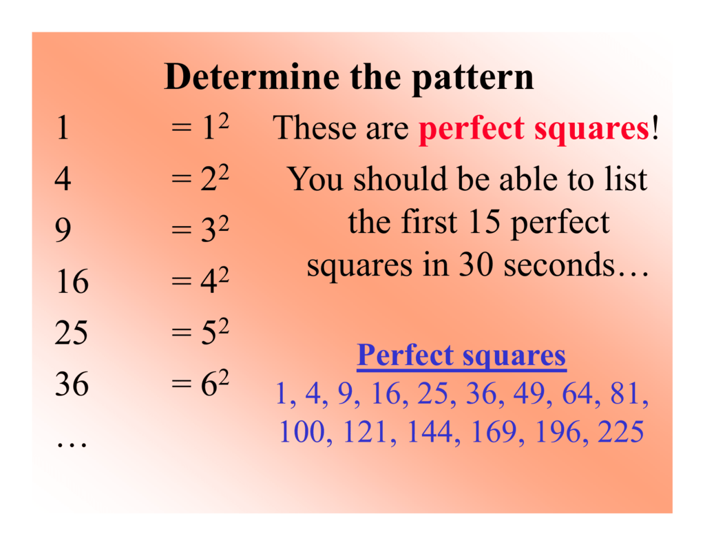 Factoring Using Difference Of Squares