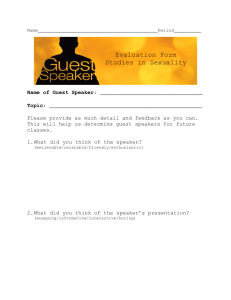 Guest Speaker Evaluation