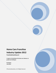 Home Care Franchise Industry Update 2012