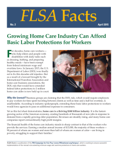Growing Home Care Industry Can Afford Basic Labor Protections