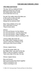 FOR NOW AND FOREVER LYRICS 1)For Now and Forever The day