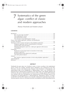 7 Systematics of the green algae: conflict of classic and modern