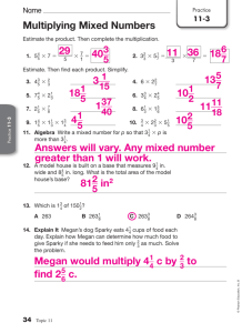 11-3 Multiplying Mixed Numbers