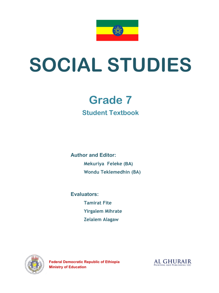 Social Studies in English Grade 7 Student Book
