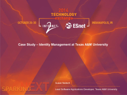 Case Study – Identity Management at Texas A&M University