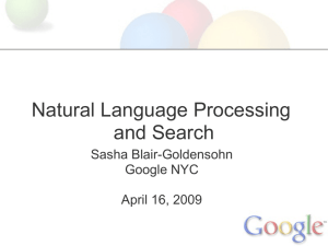 NLP and Search - Fordham University Computer and Information