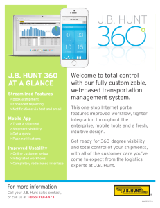 J.B. HUNT 360 AT A GLANCE