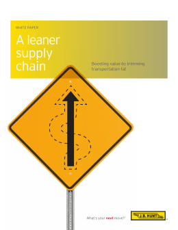 A leaner supply chain