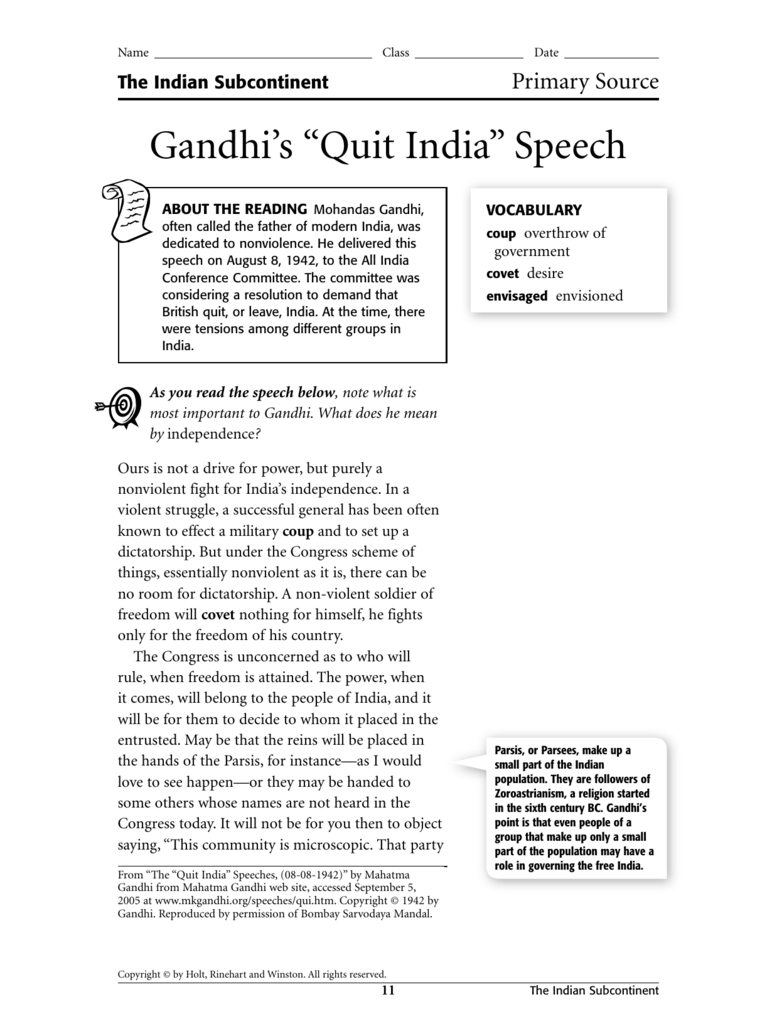 gandhi commemorative speech essay The archive browse the digital thoreau coined the term in 1848 in his essay about his refusal as an gandhi used nonviolent civil disobedience to protest.