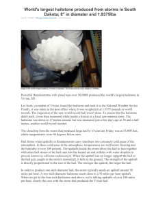Picture of the World's Largest Hailstone