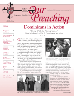 Our Preaching_Vol2 Iss2.qxd - Dominican Sisters of Amityville
