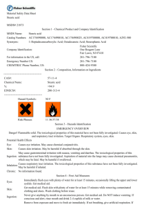 Material Safety Data Sheet Stearic acid MSDS# 21873 Section 1