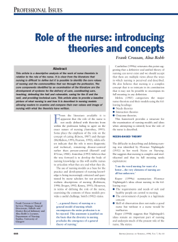 notes nursing and outcome theorist