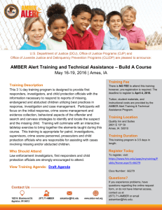 AMBER Alert Training and Technical Assistance – Build A Course