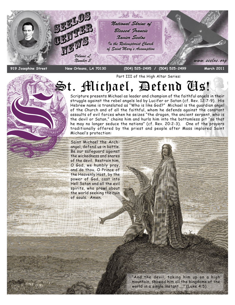 St  Michael, Defend Us! - Blessed Francis Xavier Seelos