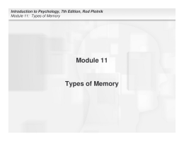 Module 11 Types of Memory