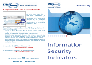 Information Security Indicators