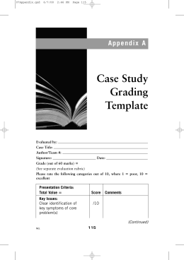 Case Study Grading Template - Power's Case Study Analysis and