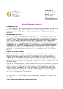 Breach of Contract Explained