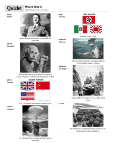 Print › World War II | Quizlet | Quizlet