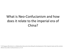 What is Neoconfucianism and how does it related to the imperial era