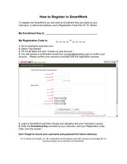 norton smartwork homework login
