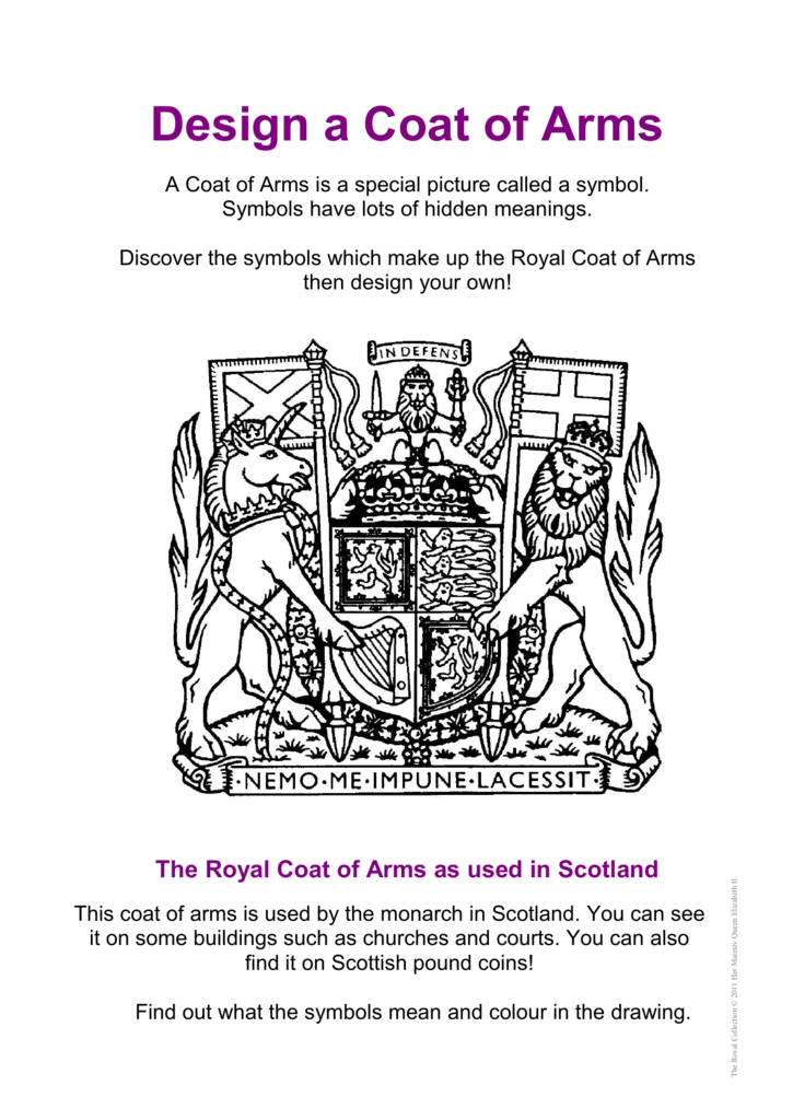 Design A Coat Of Arms Royal Collection Trust