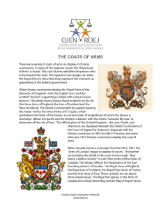 the coats of arms - the Ontario Justice Education Network