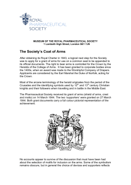 The Society's Coat of Arms - Royal Pharmaceutical Society